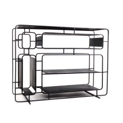 Design black metal shelf