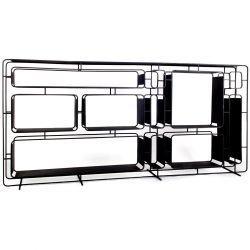 Large design black metal shelf