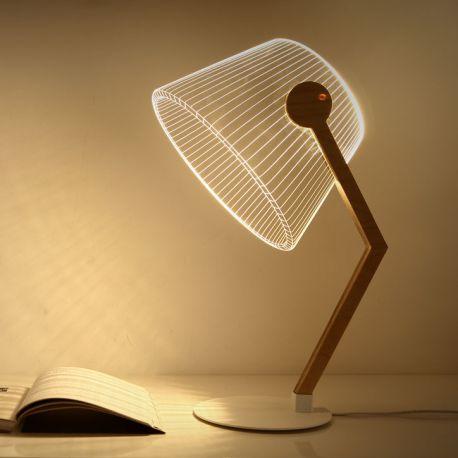Lampe à poser effet 3D Ziggi
