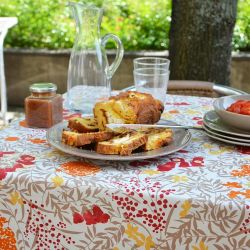 Nappe enduite Mimosa Rouge