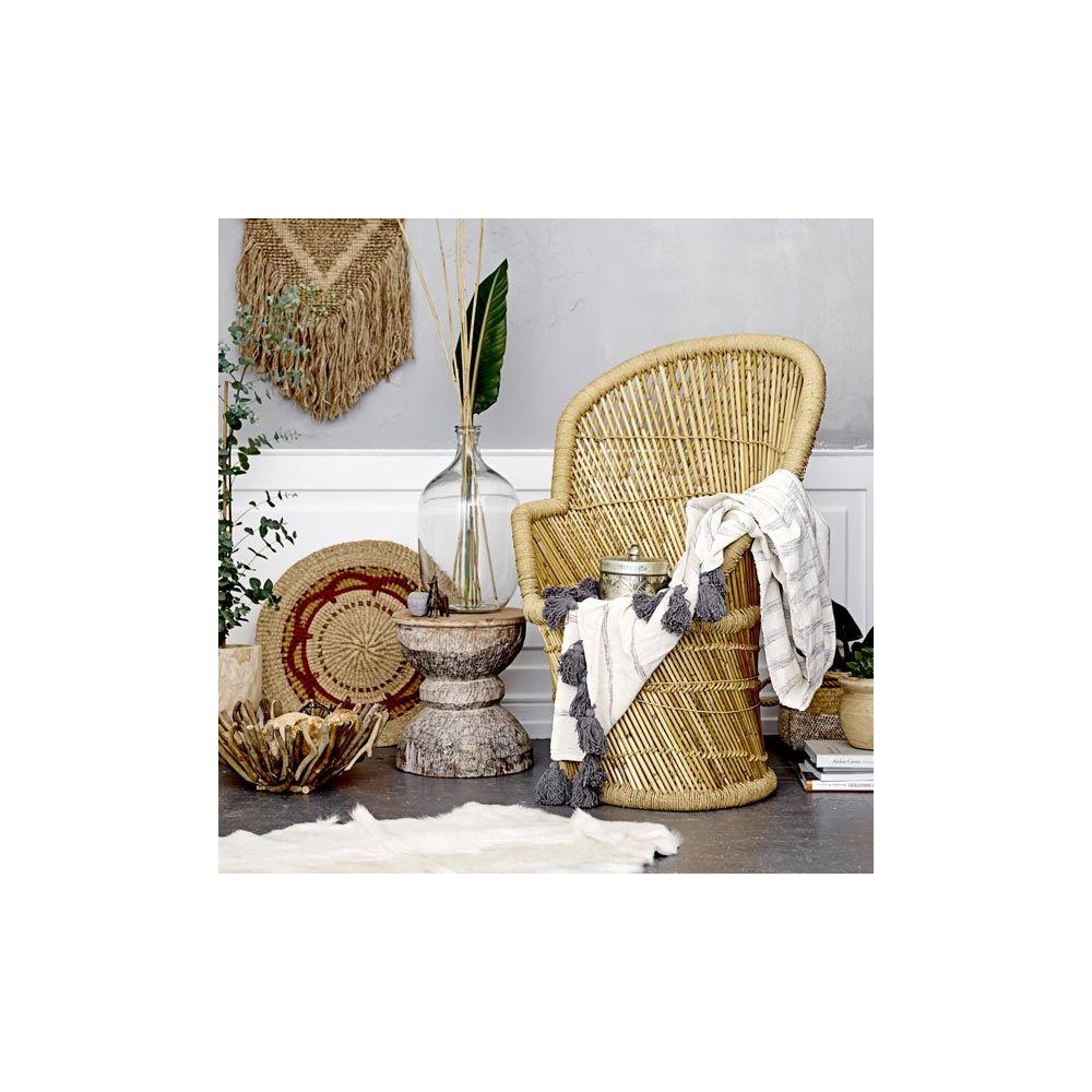 fauteuil en bambou bloomingville fauteuil scandinave avec dossier haut emma. Black Bedroom Furniture Sets. Home Design Ideas