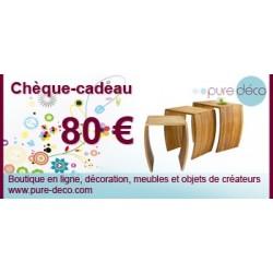Chèque cadeau 80 €