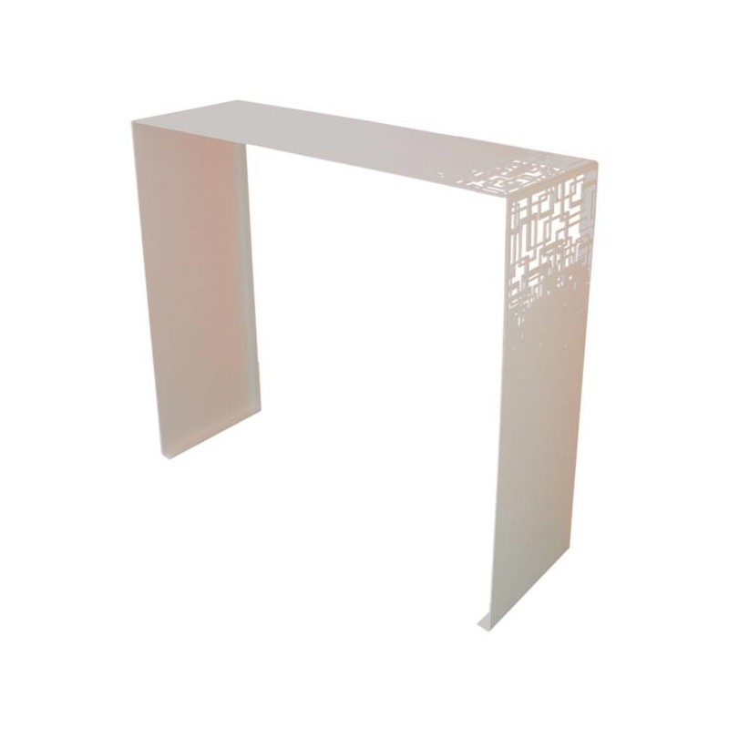 Console design cubical blanche coco co - Meuble console blanche ...