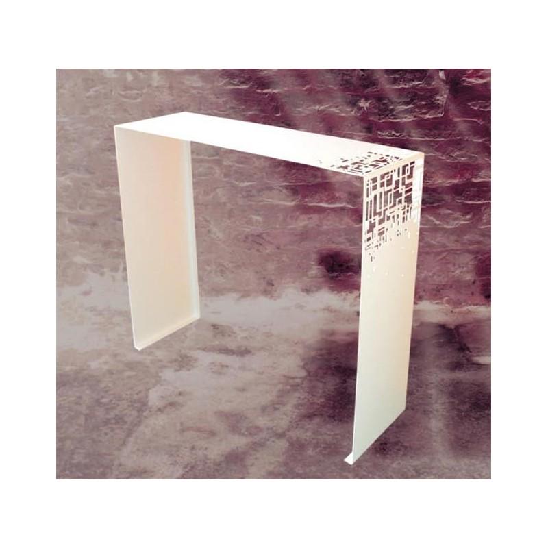 console design cubical blanche coco co. Black Bedroom Furniture Sets. Home Design Ideas