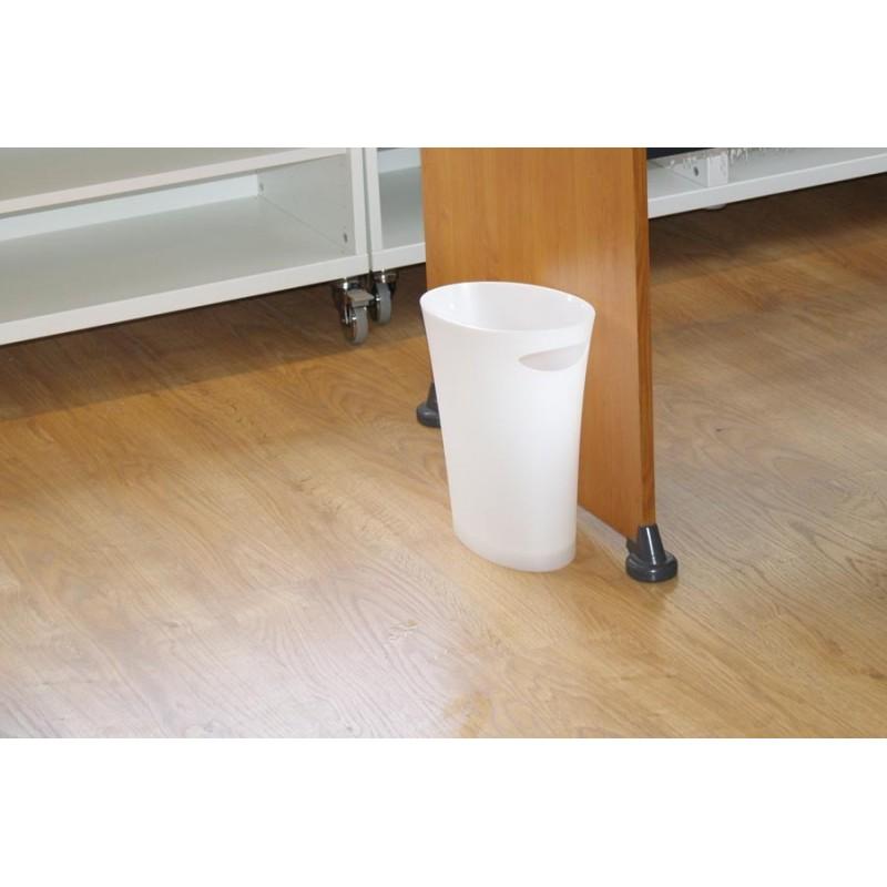 corbeille papier poubelle de bureau blanche en vente chez pure deco. Black Bedroom Furniture Sets. Home Design Ideas