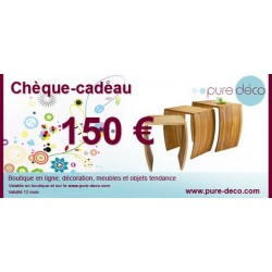Chèque cadeau 150 €