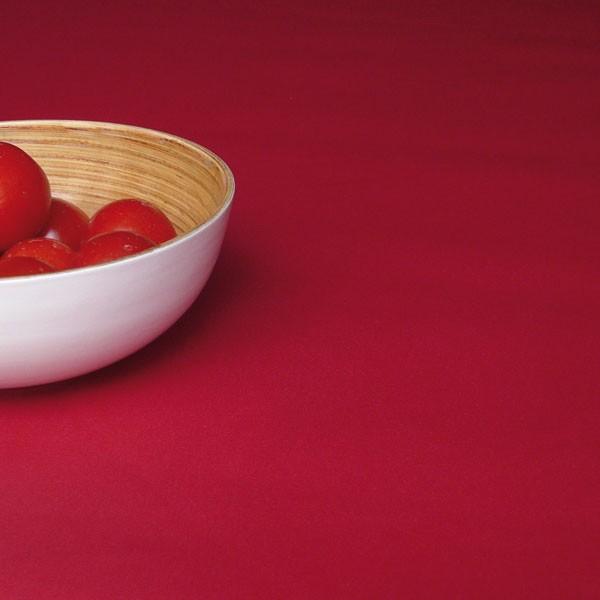 Nappe enduite unie Rouge Taille - 120 x 120 cm