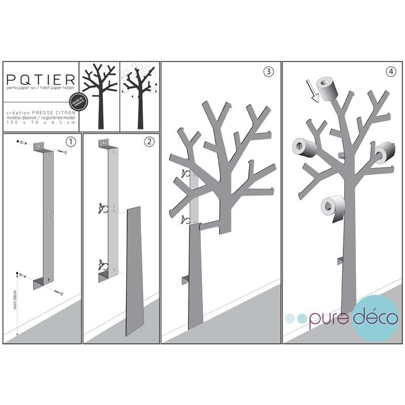 arbre papier wc support papier toilette design presse. Black Bedroom Furniture Sets. Home Design Ideas