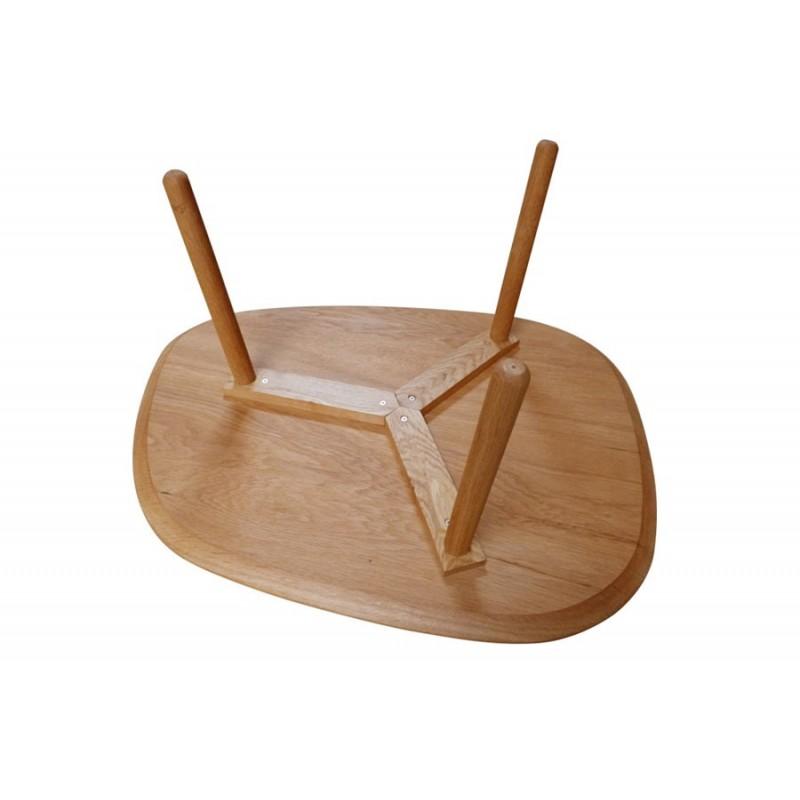 table basse 3 pieds en bois massif par reine m re. Black Bedroom Furniture Sets. Home Design Ideas