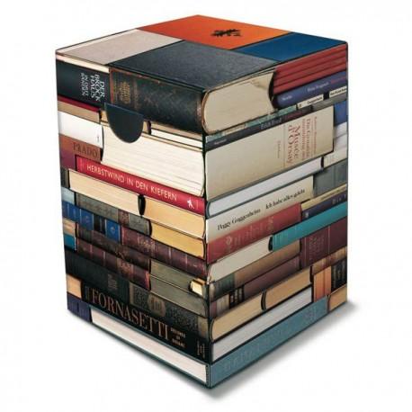 Tabouret livres en carton