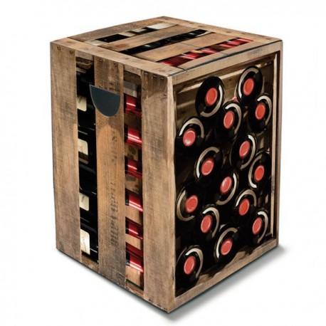 Tabouret  en carton bouteilles de vin