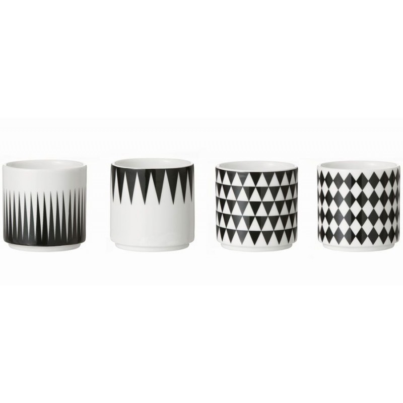 tasses caf ferm living tasses noir et blanc. Black Bedroom Furniture Sets. Home Design Ideas