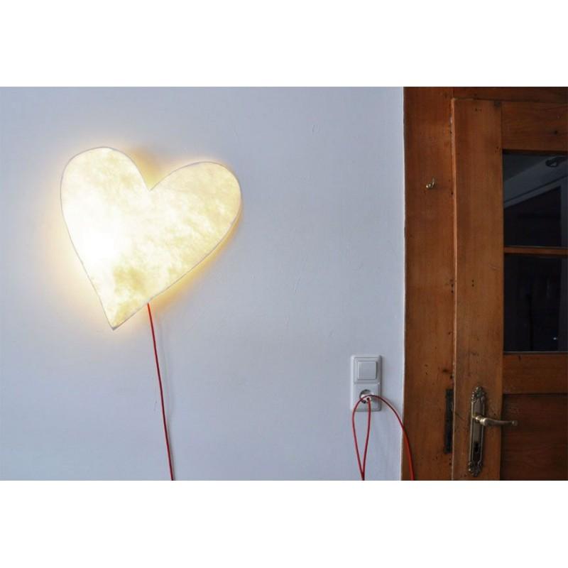 Heart Paper Wall Lamp By Raumgestalt