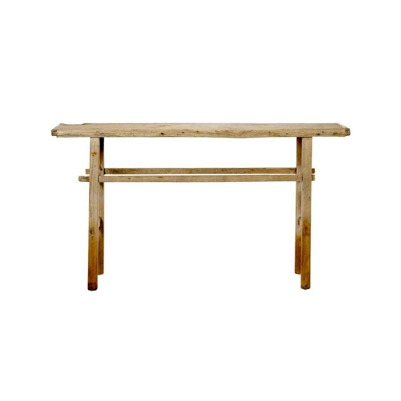 Console bois artisanale table rustique bloomingville - Table console en bois ...