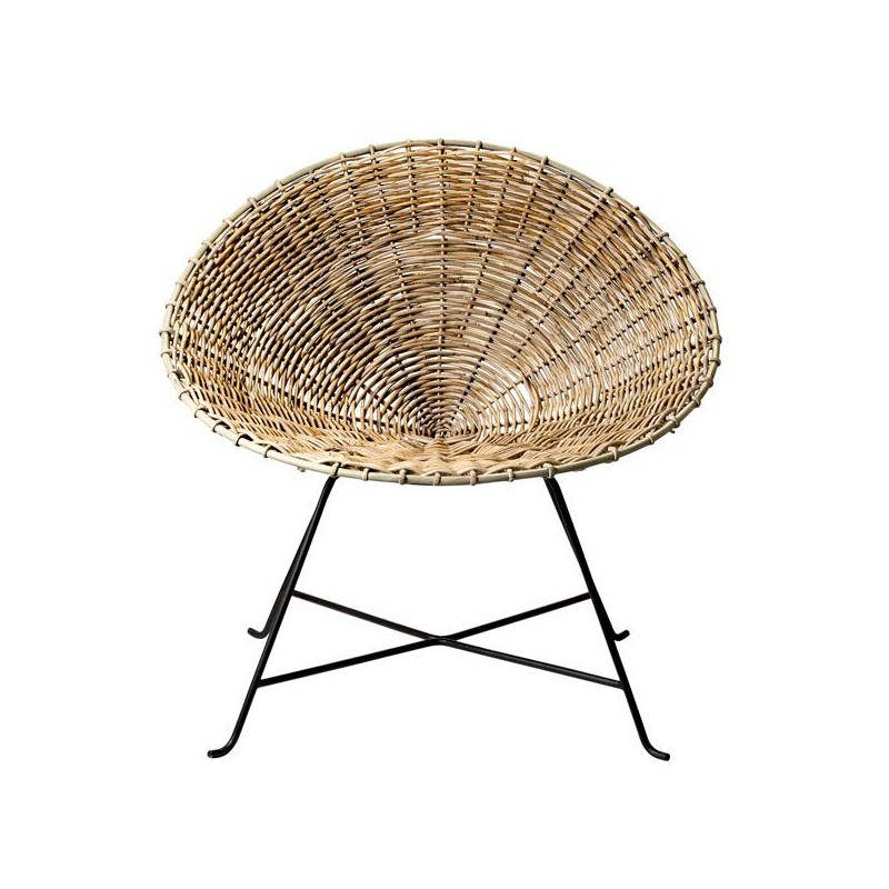 Round Rattan Armchair By Bloomingville ...