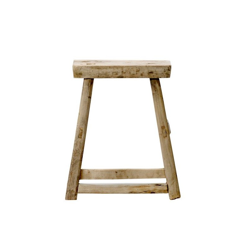 tabouret rustique en bois d 39 orme ancien bloomingville chez pure deco. Black Bedroom Furniture Sets. Home Design Ideas