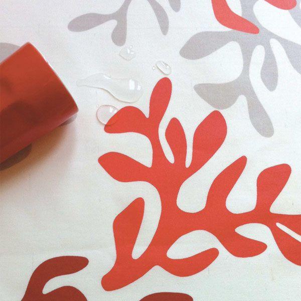 Nappe enduite Corail Rouge Taille - 120 x 180 cm