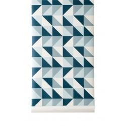 Papier peint Remix bleu