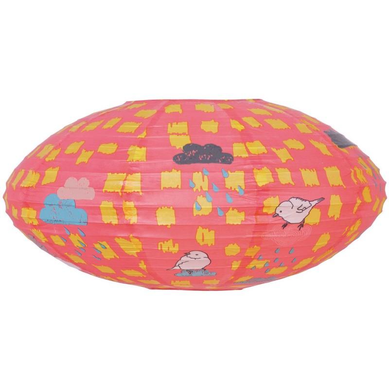 lampe boule japonaise new bird par mimilou. Black Bedroom Furniture Sets. Home Design Ideas