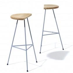 Gray bar stool Max