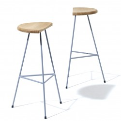Tabouret de bar design gris