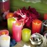 bougies à pile colorées