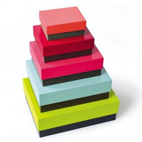 boite de rangement colorée