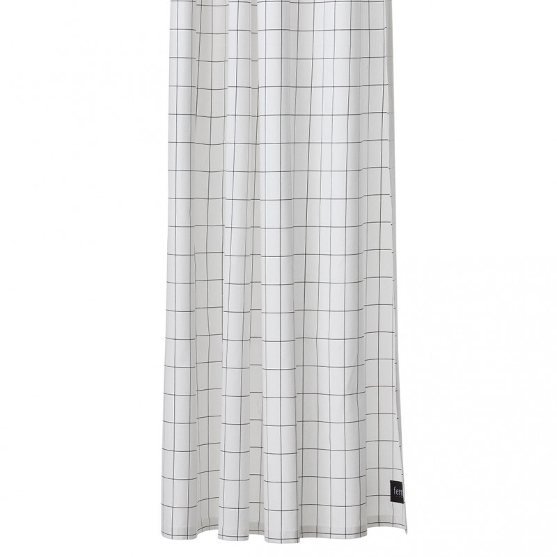 Grid Cotton Shower Curtain By Ferm Living