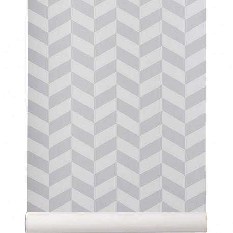 Papier peint Angle gris