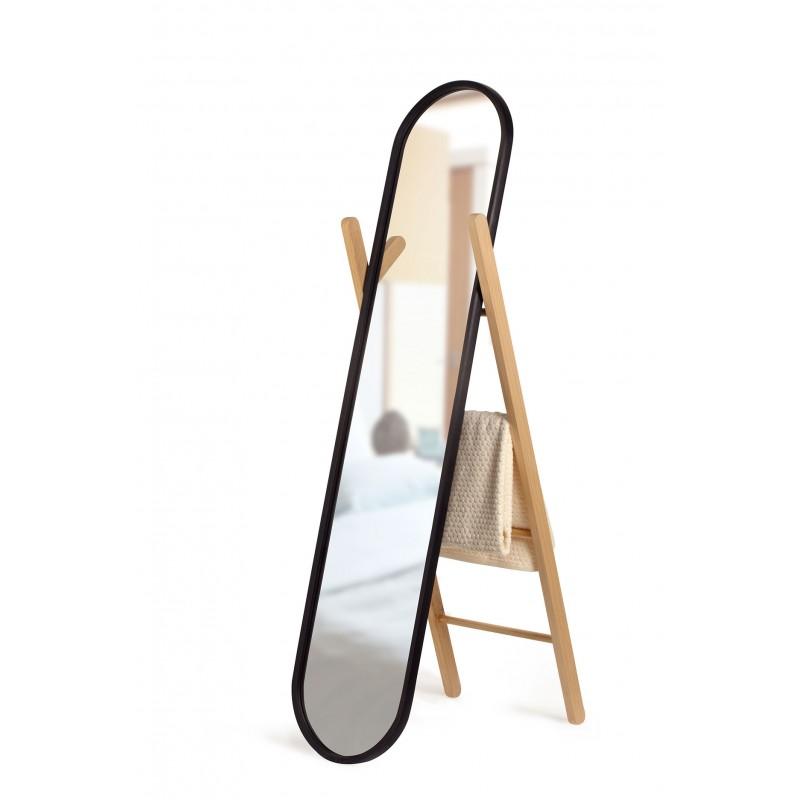 Grand miroir sur pied hub par umbra for Miroir psyche