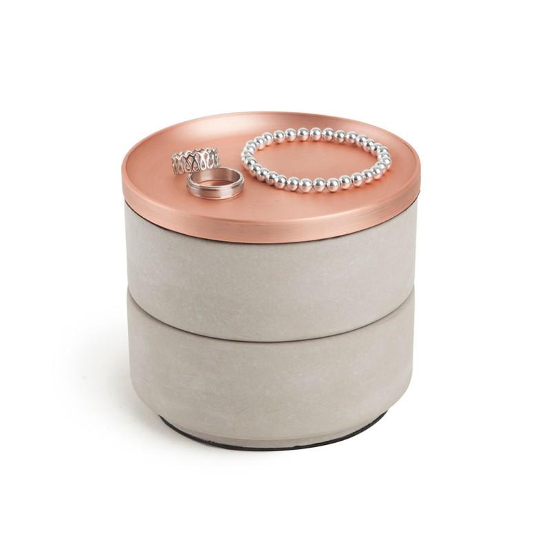 Boite bijoux b ton et zinc tesora par umbra design - Boite a bijoux originale ...