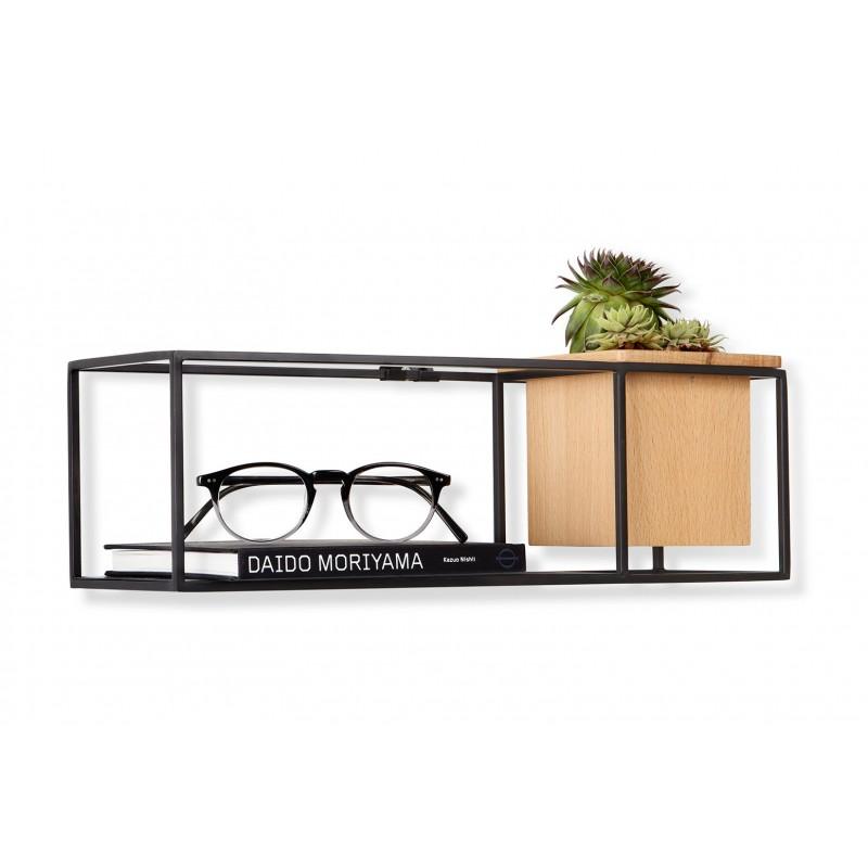 petite tag re murale cubist en bois et m tal par umbra design. Black Bedroom Furniture Sets. Home Design Ideas