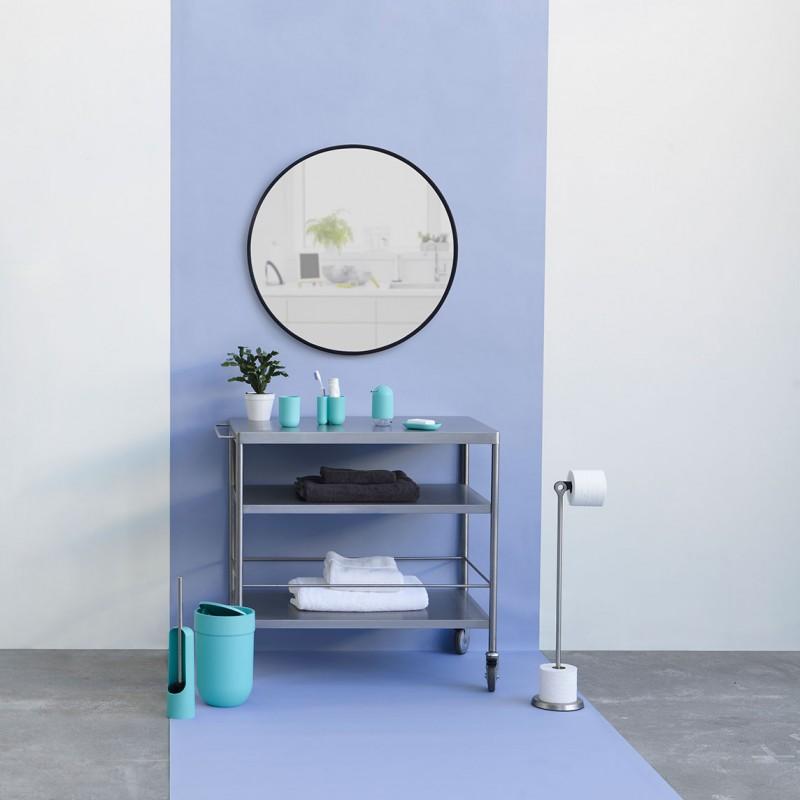 Grand miroir rond hub par umbra for Miroir rond deco