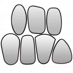 7 Miroirs cadre métal noir Broste