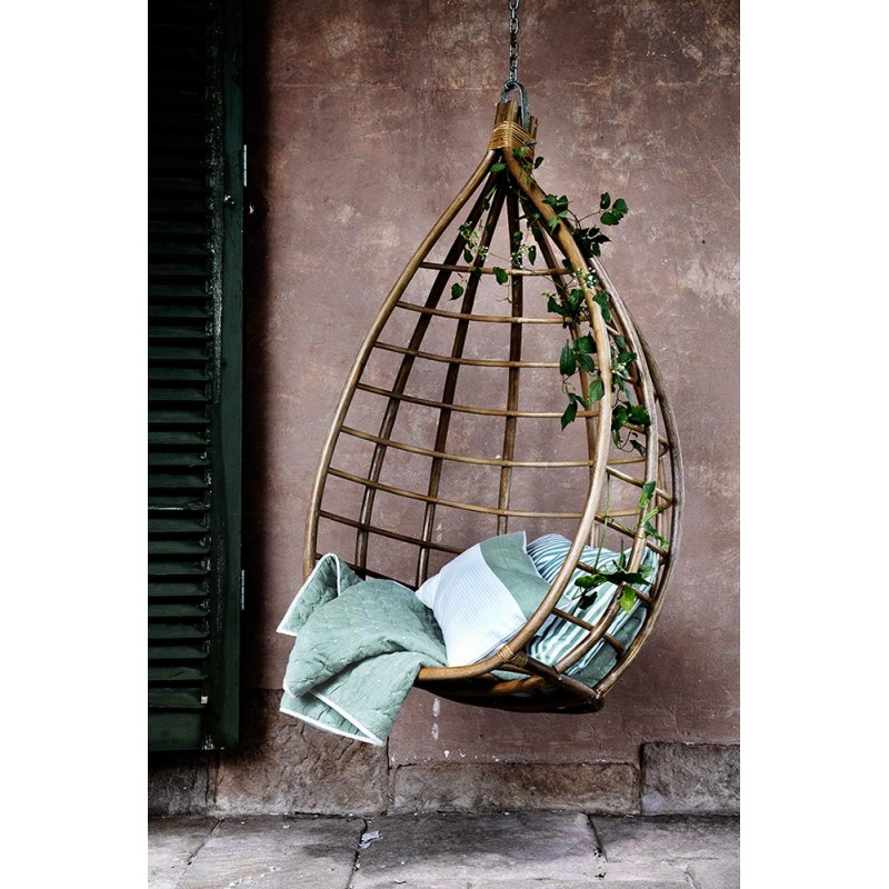 ... Design Egg Shaped Rattan Hanging Armchair By Broste Copenhagen ...