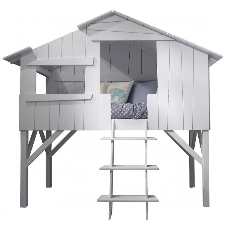Lit cabane simple ou superpos en bois pour chambre d for Chez leon meuble montreal