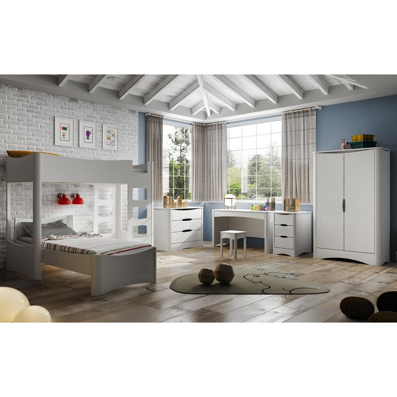 lit simple en bois pour chambre d 39 enfants mathy by bols collection fusion. Black Bedroom Furniture Sets. Home Design Ideas