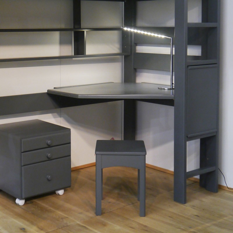 bureau droit et d 39 angle pour lit superpos mathy by bols collection dominique. Black Bedroom Furniture Sets. Home Design Ideas
