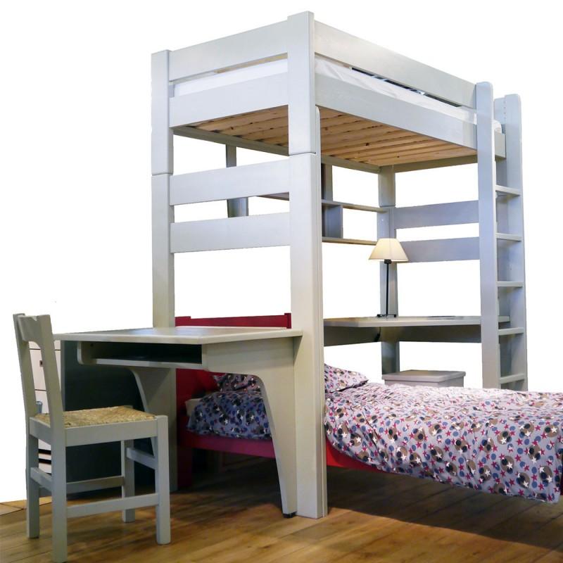 bureau droit et d 39 angle pour lit superpos mathy by bols collection dominique. Black Bedroom Furniture Sets. Home Design Ideas