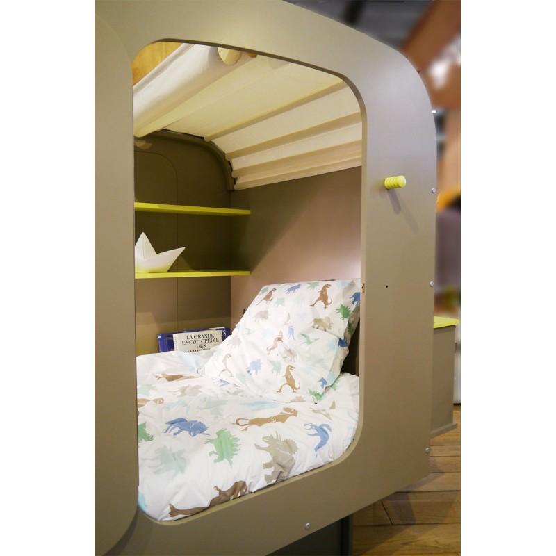 Lit caravane mathy by bols lit original pour enfant chez for Mobilier lit