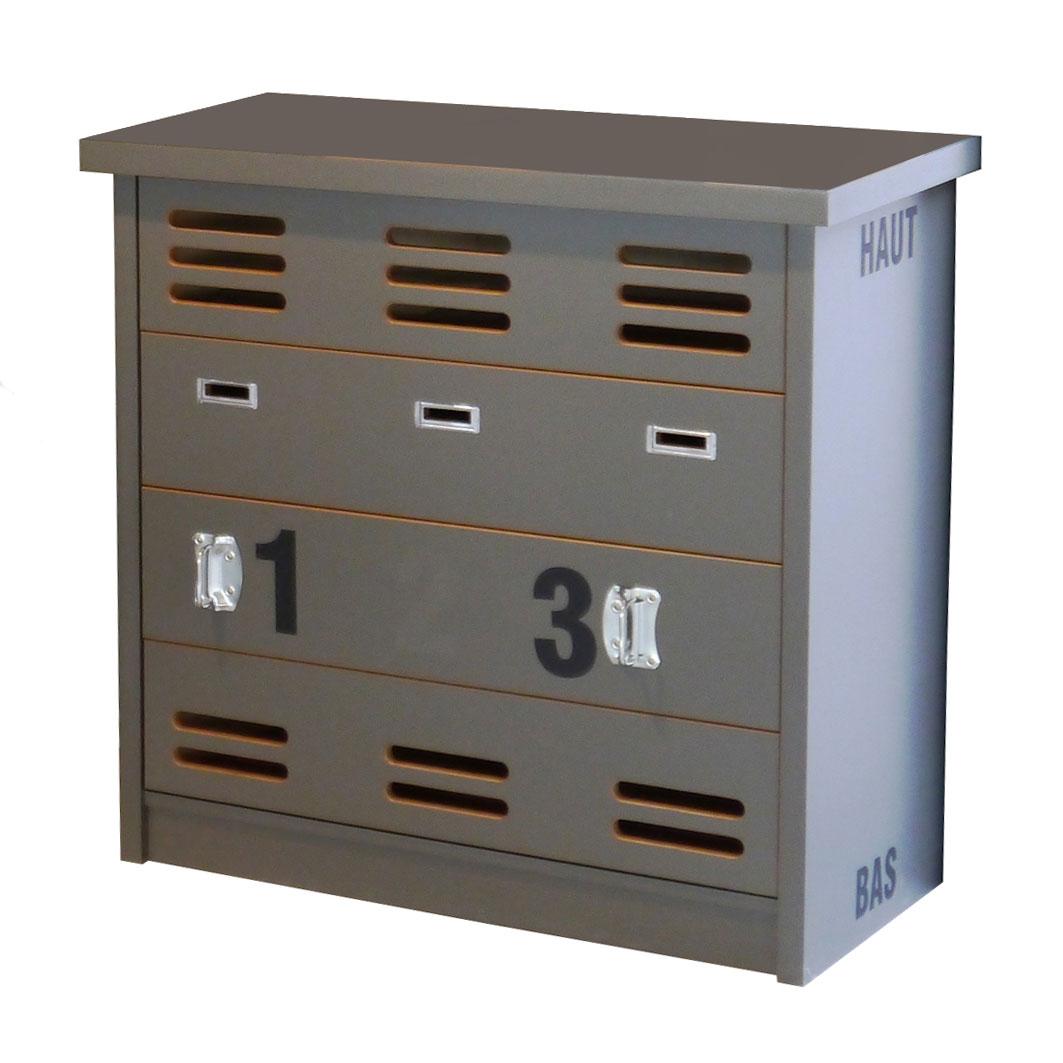 Commode New Worker Couleur - Artichaut, Couleur portes ou tiroirs - Artichaut