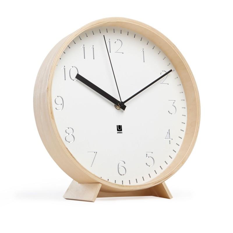 horloge murale ou 224 poser en bois naturel rimwood umbra