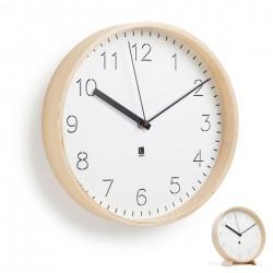 Rimwood clock in natural wood by Umbra