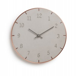 Piatto wall clock by Umbra in cement and copper metal