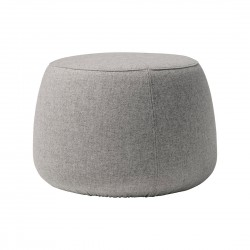 Small grey round pouf Sit- Blomingville