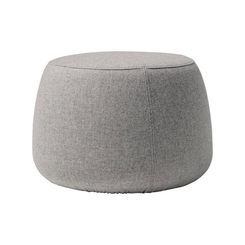 pouf rond gris pouf en laine sit bloomingville chez pure deco. Black Bedroom Furniture Sets. Home Design Ideas