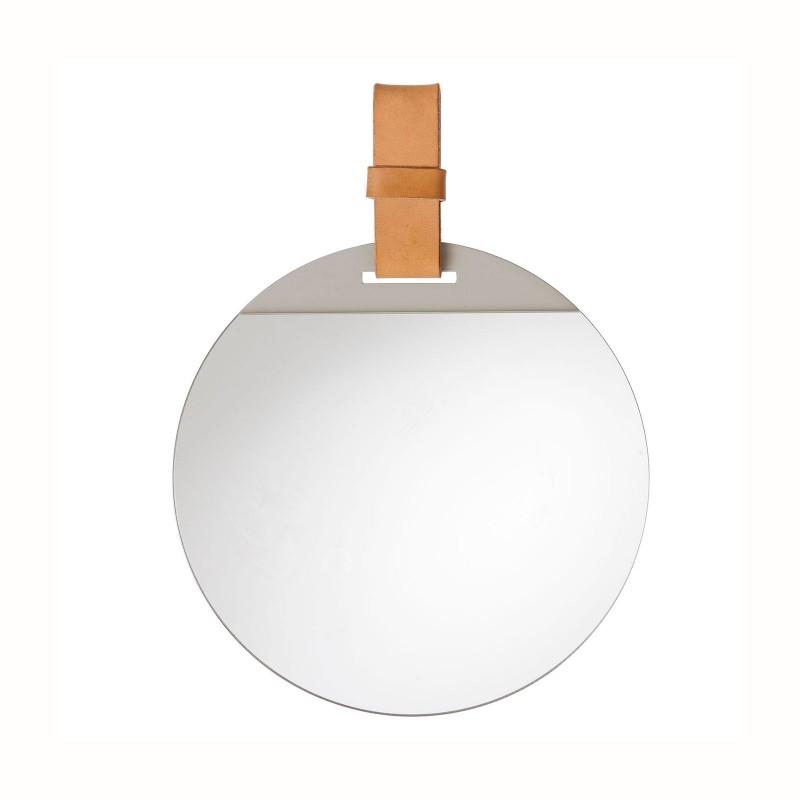 Miroir enter par ferm living for Petit miroir rond