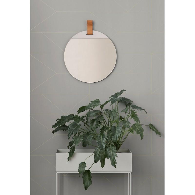 miroir rond miroir ferm living enter chez pure deco. Black Bedroom Furniture Sets. Home Design Ideas