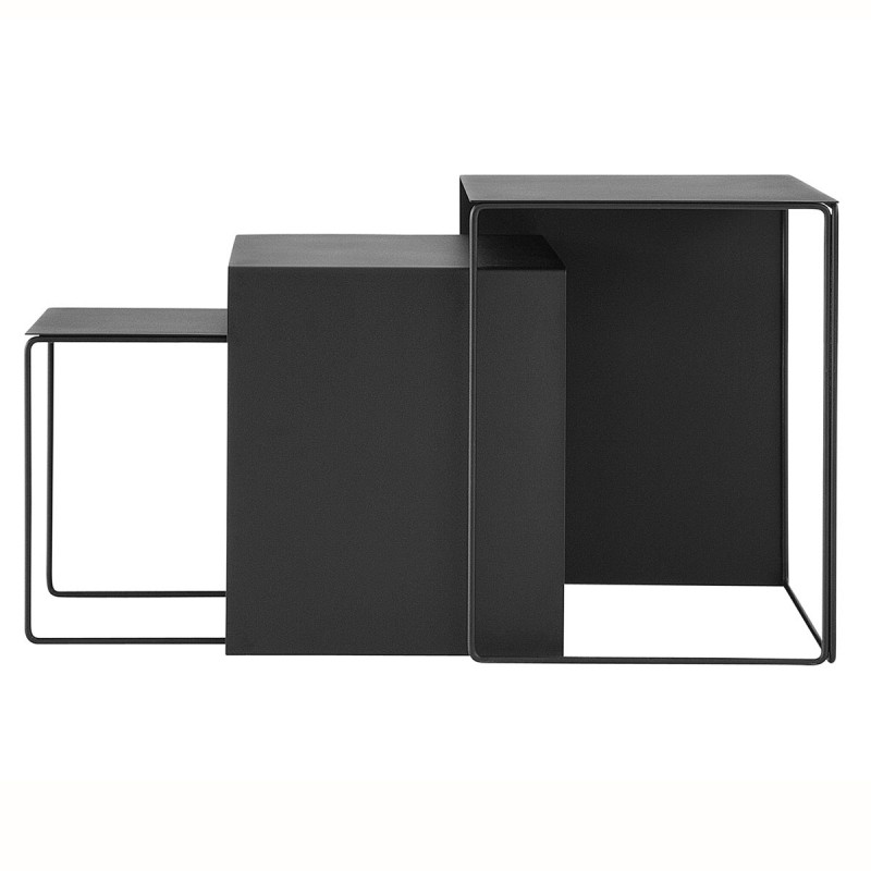 tables gigognes tables basses en m tal en m tal cluster par ferm living. Black Bedroom Furniture Sets. Home Design Ideas