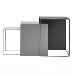 Tables Gigogne en métal Cluster